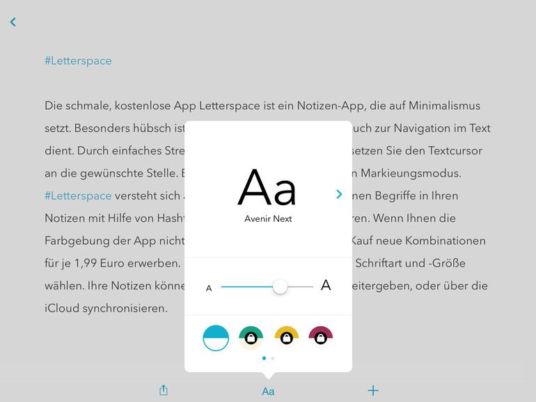 Letterspace: Minimalistische Notizen-App