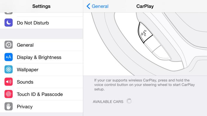 Kabellose Anbindung an CarPlay