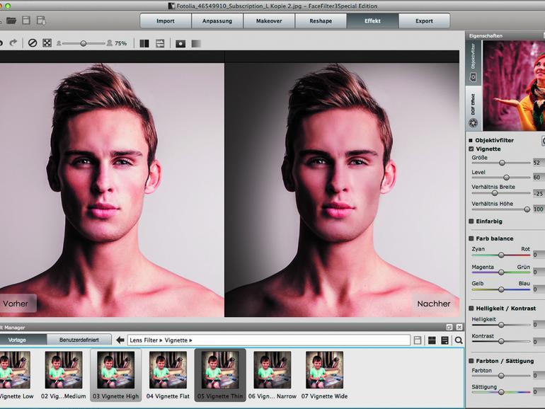 Software FaceFilter 3 SE: Unreine Haut, Fältchen und dunkle Augenringe in Fotos kinderleicht korrigieren