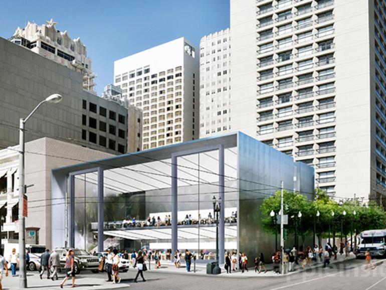 Afholte Apple baut neuen Flaggschiff-Store in San Francisco: Vorzeige KT-48