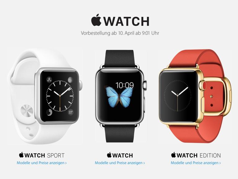 Nur noch wenige Tage und dann kann man selbst Hand an die Apple Watch legen.