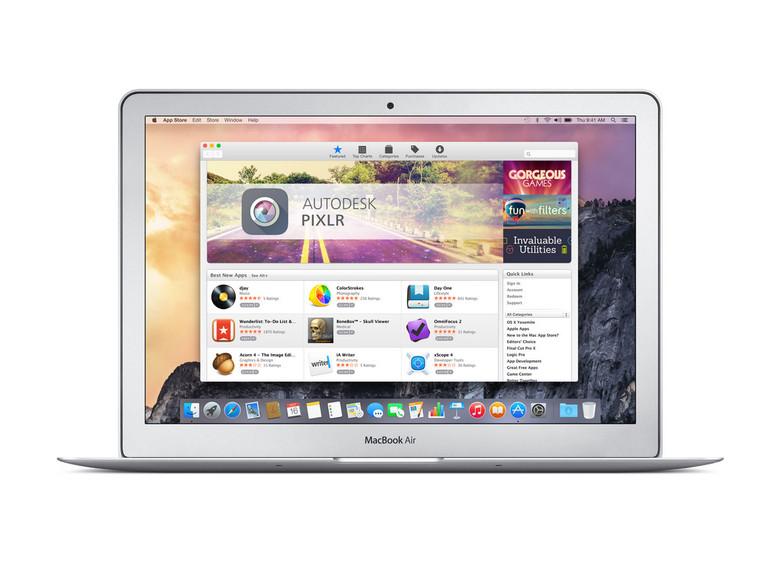 Apples App Store für den Mac ist gui bestückt