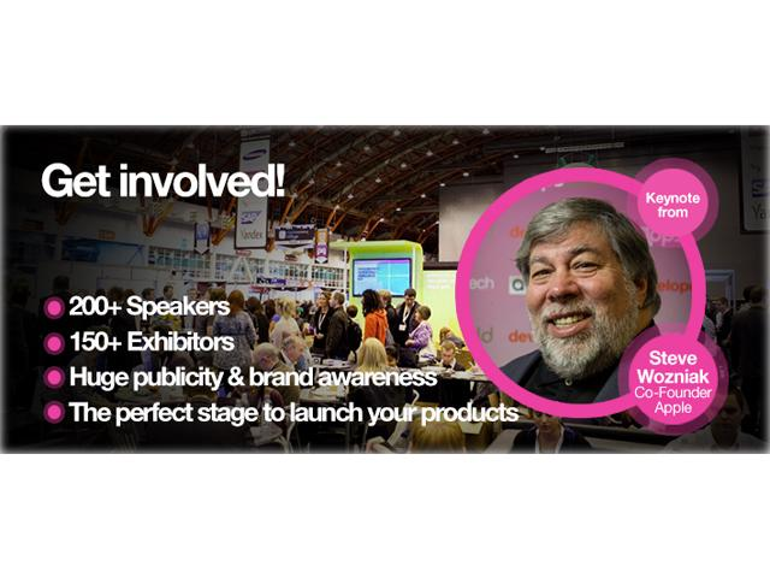 Steve Wozniak spricht auf der Apps World in Berlin live ab 15 Uhr - bei uns sind Sie dabei