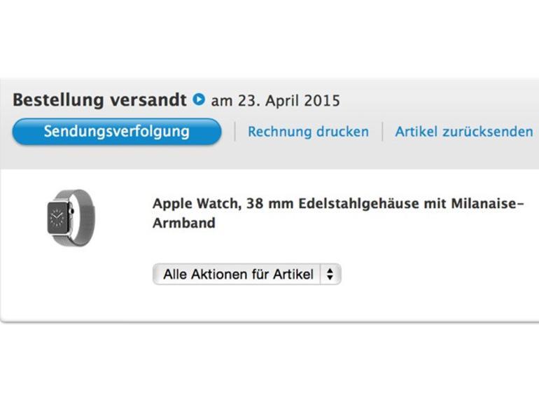 Apple liefert die ersten Apple Watches am morgigen Freitag aus
