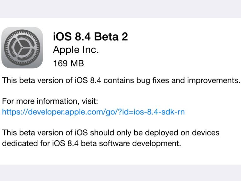 Die iOS 8.4 Beta 2 trägt die Build-Nummer 12H4086d