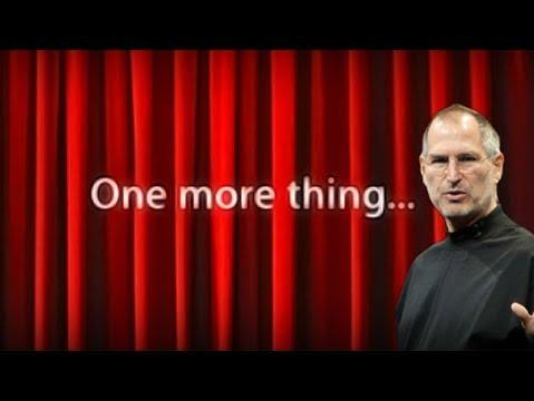 """Steve Jobs stellte mehrmals Geräte unter dem Punkt """"One more thing"""" vor"""