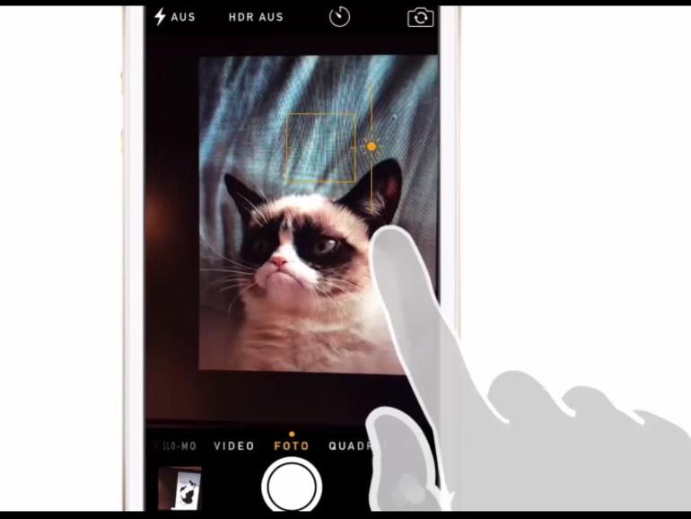 Nutzer können in iOS 8 die Belichtung der Kamera manuell ändern