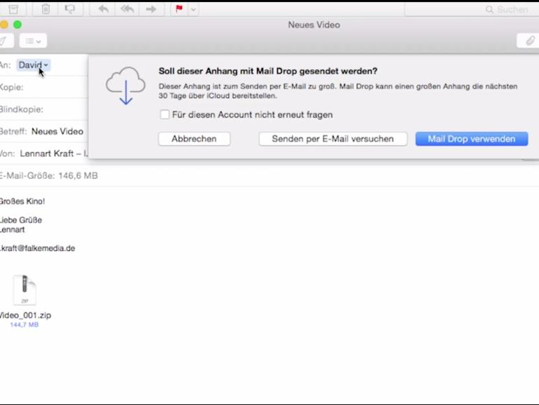 Os X 1010 Yosemite Video Tipp Riesige E Mail Anhänge Via Mail Drop