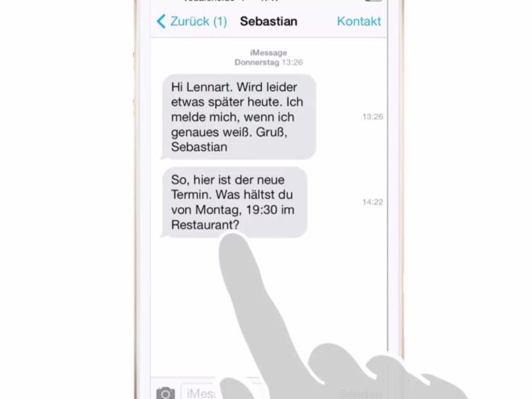 iOS 8 Video-Tipp: Zeitpunkt des Eingangs jeder Nachricht ...
