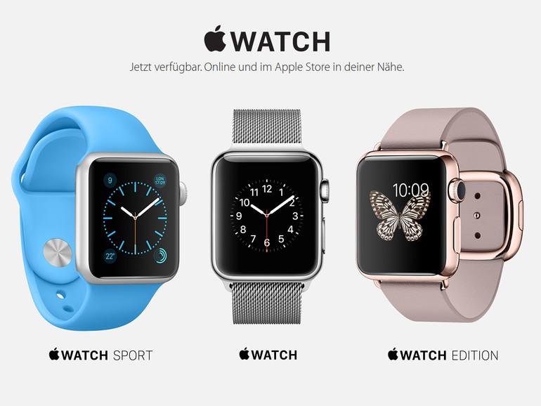 Die Lieferzeiten für alle Apple Watch-Modelle haben sich verkürzt