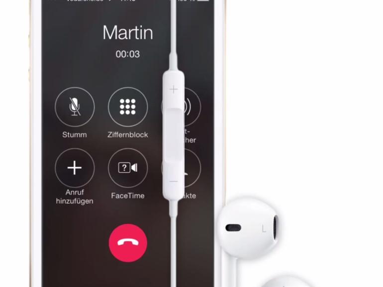 Mit Apples Earpods können Anwender auch telefonieren