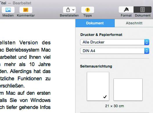 apple pages kennenlernen)