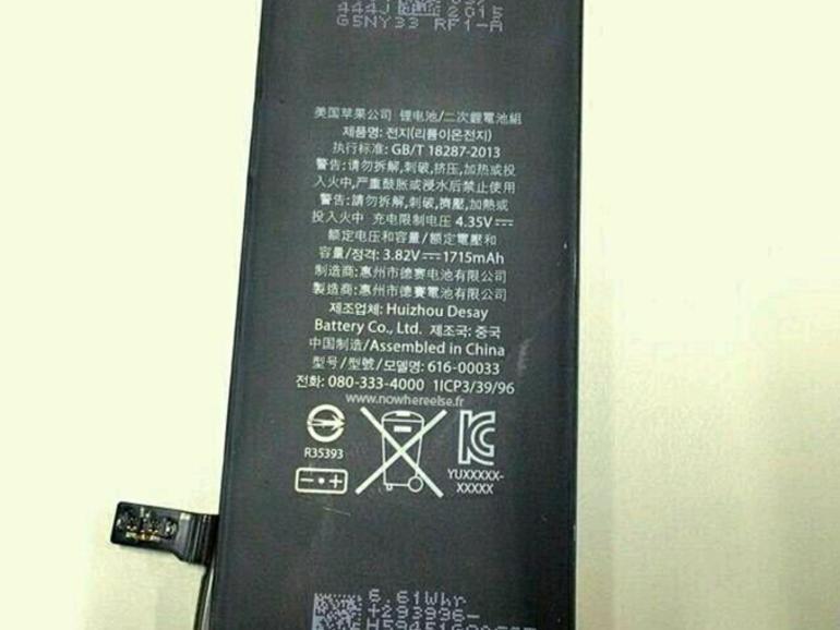 Akku des komenden iPhone 6c?