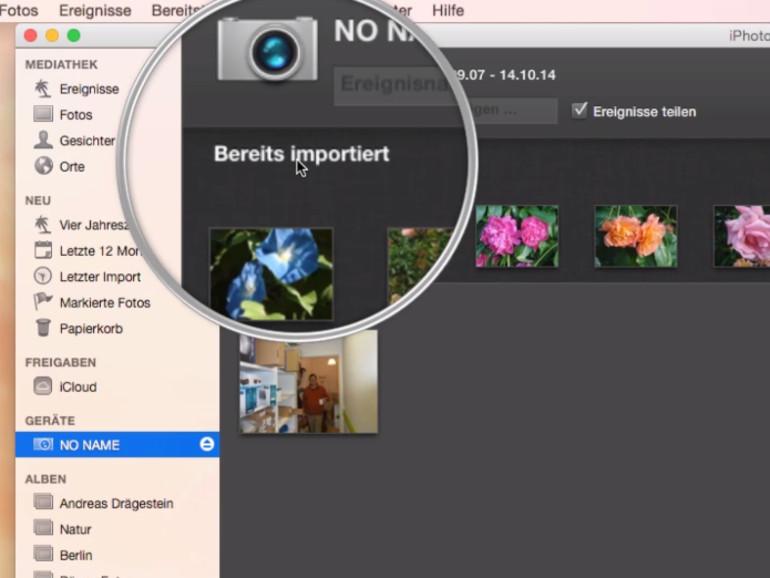 Bilder lassen sich auf verschiedene Arten von Ihrer Kamera auf Ihren Mac synchronisieren