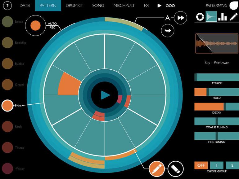 Innovative Benutzeroberfläche bei Patterning