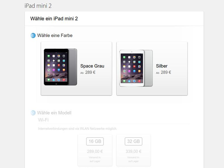 Apple verkauft weiterhin das iPad mini 2