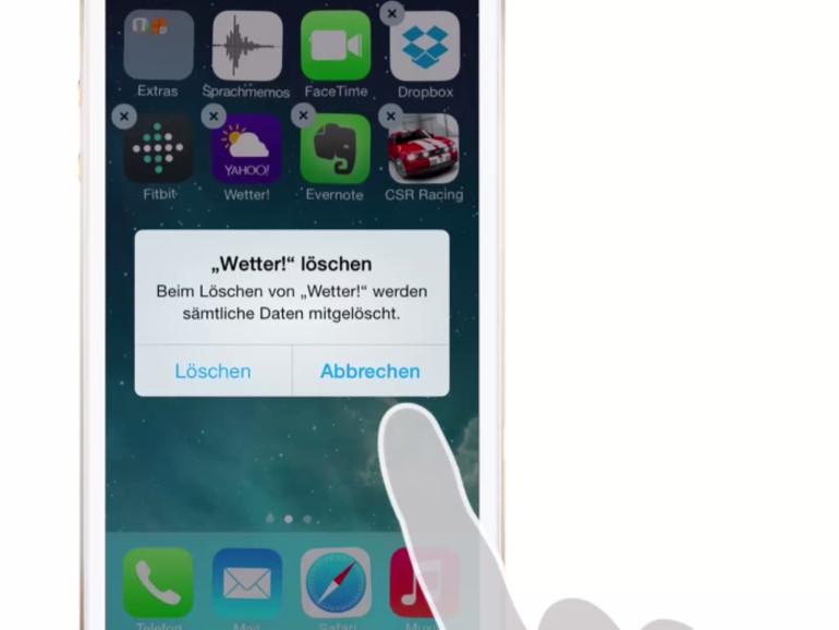 Apps lassen sich ganz einfach wieder löschen