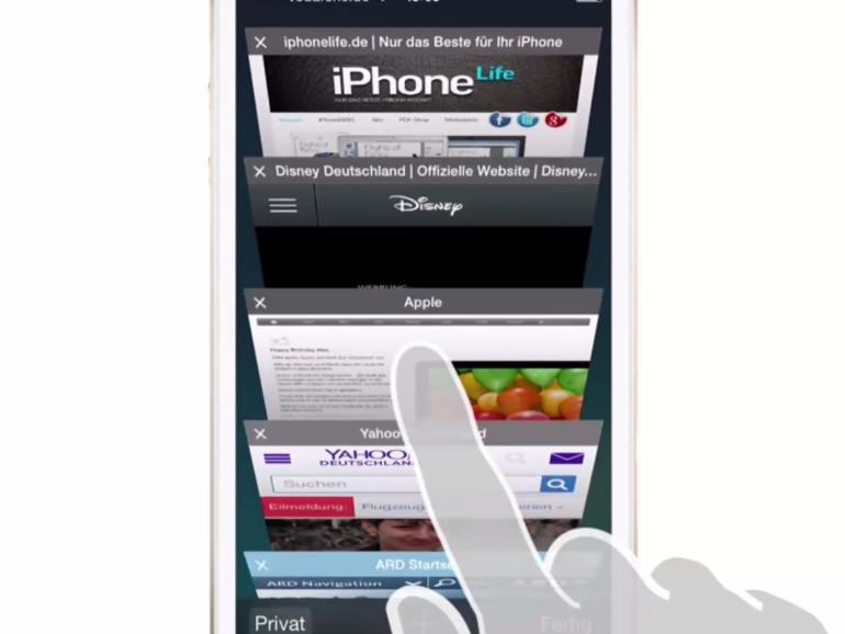 Die Safari-App besitzt einen Privat-Modus