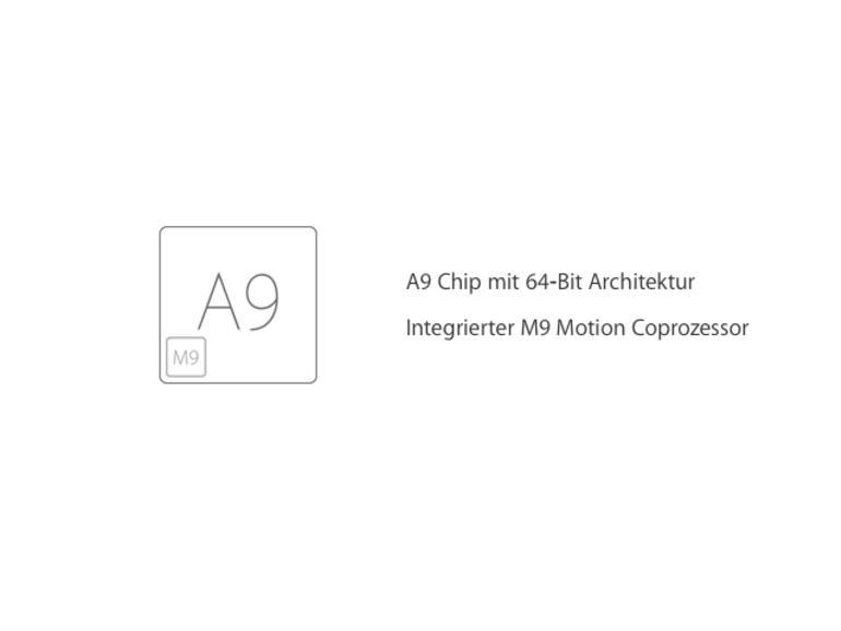 Derzeit schlägt im Inneren des iPhone 6s das Herz eines A9 SoC