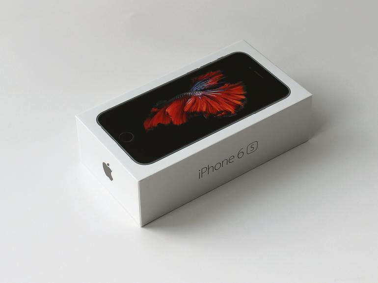 Das Bild auf der iPhone-6s-Packung zeigt bereits eines der neuen Live-Hintergrundbilder.