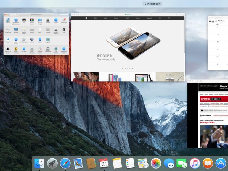 OS X El Capitan: Mission Control überarbeitet