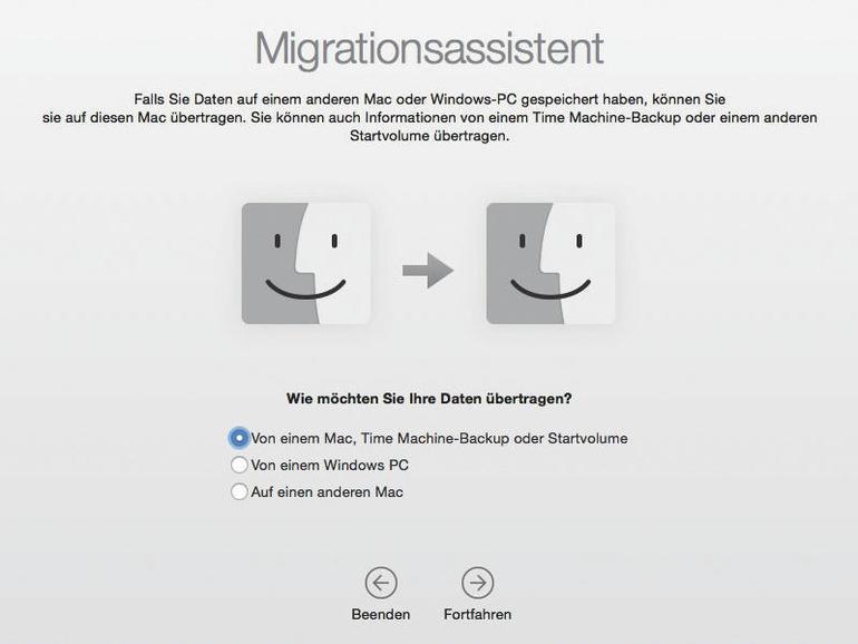 Mac einrichten: Problemlos umziehen dank Migrationsassistent