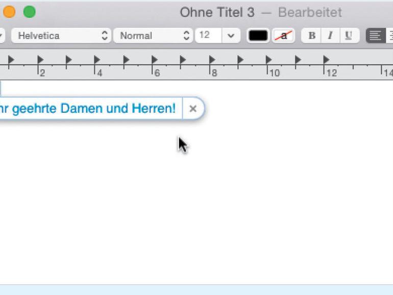 Textbausteine am Mac, iPhone und iPad nutzen