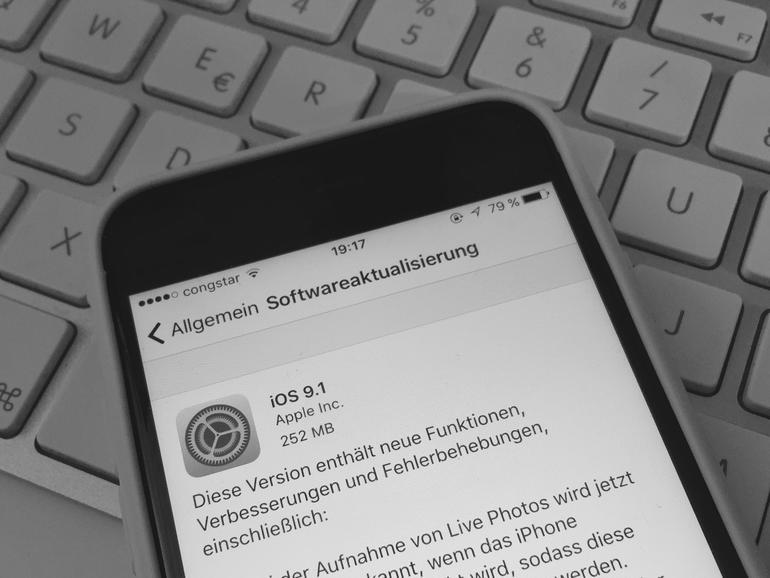 iOS 9.1 steht zum Download bereit
