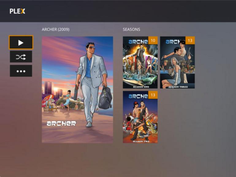 So könnte das Plex Media-Center für Apple TV aussehen