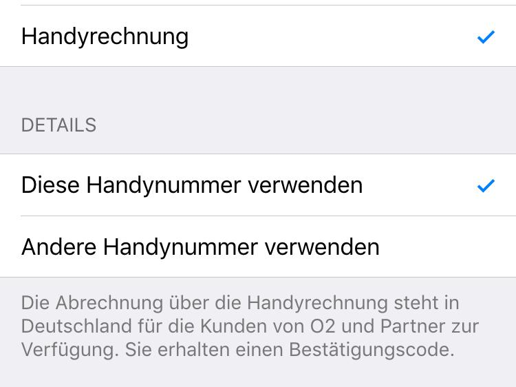 iphone im app store per handyrechnung bezahlen mac life. Black Bedroom Furniture Sets. Home Design Ideas