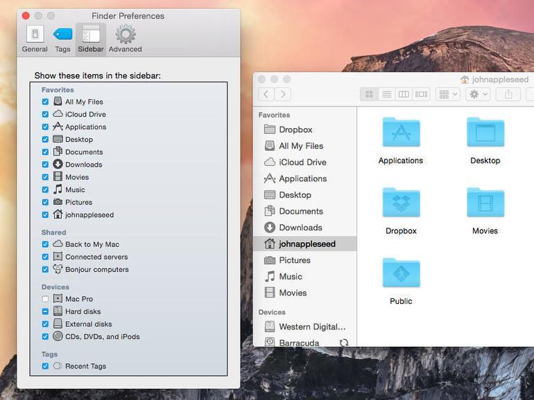 Wenn du wieder eine Datei in der Seitenleiste des Finders anzeigen möchtest, kannst du dies einfach in den Einstellungen des Finders ändern.