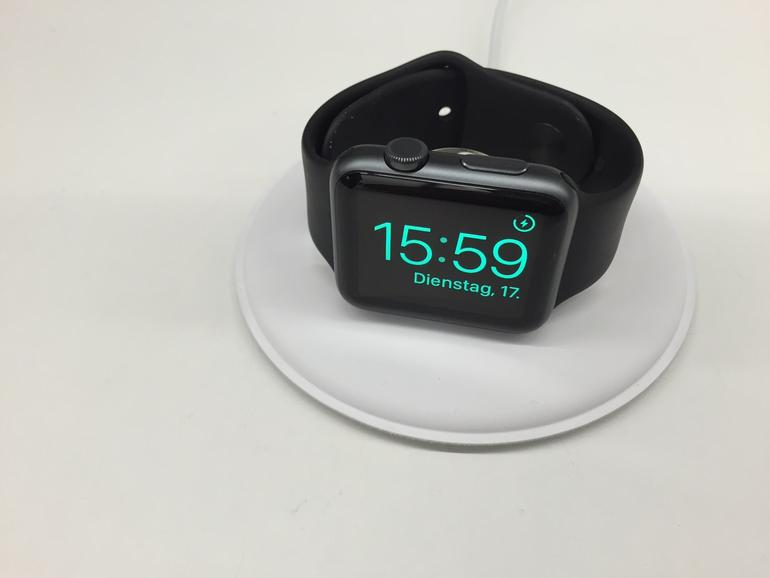 Das Apple Watch Dock im Wecker-Modus