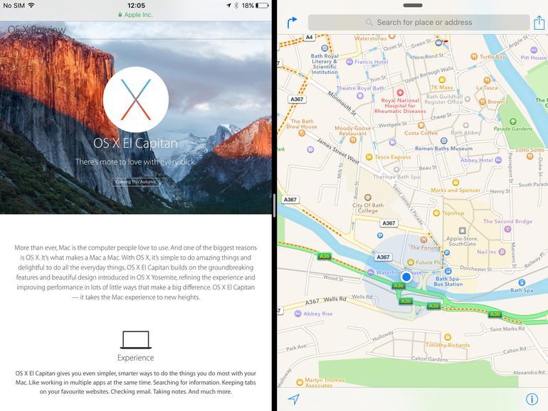 Mit iOS 9 können zwei Apps parallel geöffnet werden. Etwa Safari zum recherchieren und Notizen um, nun ja, Notizen zu machen. Allerdings nur auf neuen iPads.