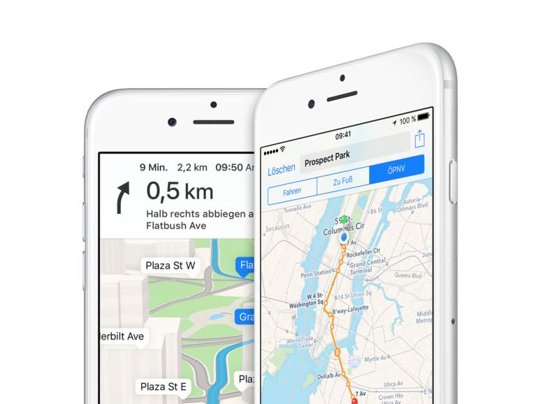 Apples Karten-Dienst wird auf iOS dreimal mehr genutzt als Google Maps