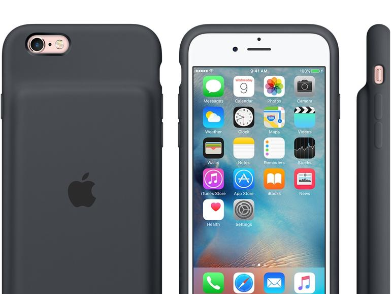 Das Smart Battery Case verlängert die Akkulaufzeit des iPhone 6s