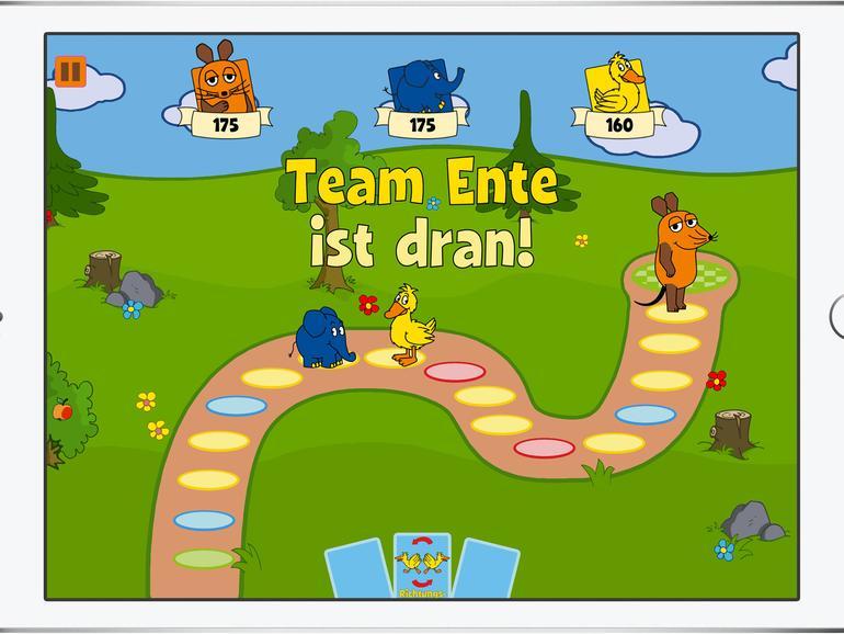 Den Spielplan gibt es in drei verschiedenen Größen. Hier siehst du die kleine Version.