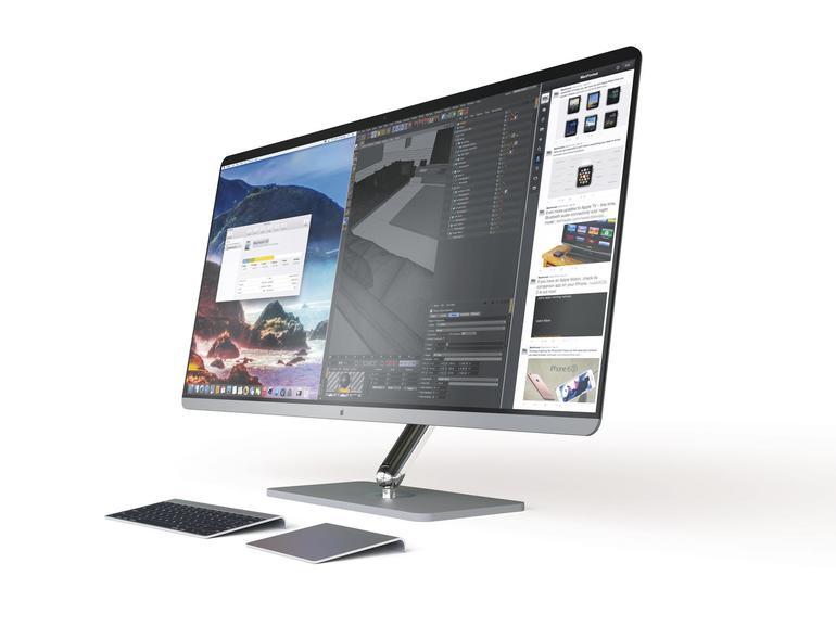 Könnte ein Widescreen-iMac und ein künftiges OS X dreifaches Split View ermöglichen sowie ein sehr frei bewegliches Display bieten?