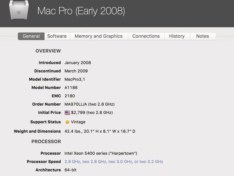Die Software Mactracker liefert die Daten aller jemals von Apple gebauten Macs und kennt auch die Performancewerte der neueren Modelle.