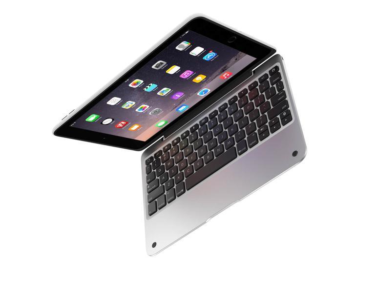 Sieht aus wie ein MacBook, ist aber ein iPad mit ClamCase-Keyboard