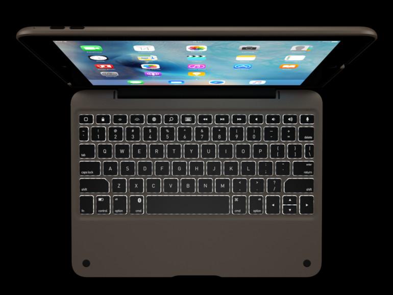 Mit Hintergrundbeleuchtung - das ClamCase+ für iPad Pro und iPad Air 2