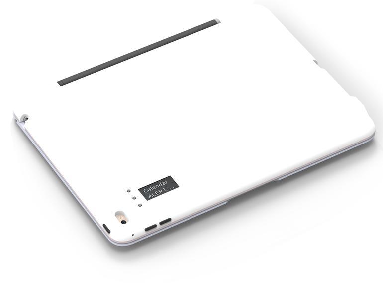 Das ClamCase Prompt hat ein kleines OLED-Display auf der Rückseite