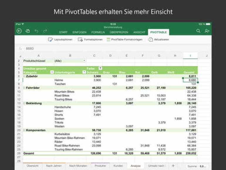 Excel für iOS