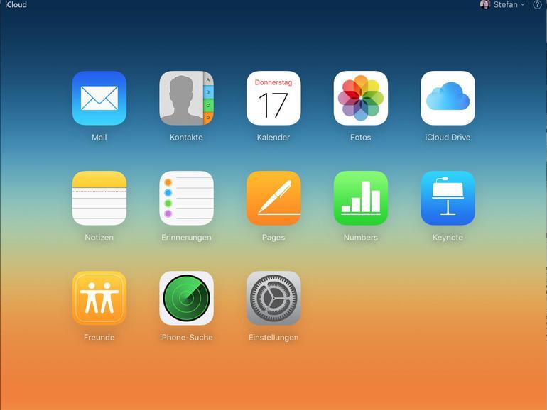 Auf alle in iCloud gespeicherten Daten kannst du auch vom Webbrowser unter iCloud.com und mit deiner Apple-ID zugreifen.