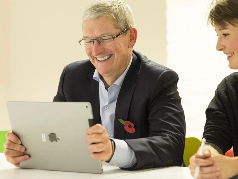 Apple-CEO Tim Cook hat gut lachen, wenn er sich die aktuellen Quartalsergebnisse anschaut