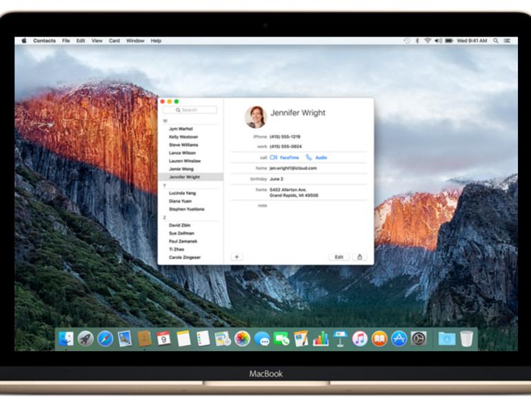 OS X 10.11 El Capitan hat einen Bug bei der Kontakte-Synchronisation