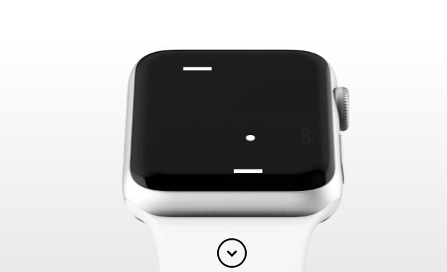 Tiny Game of Pong auf der Apple Watch