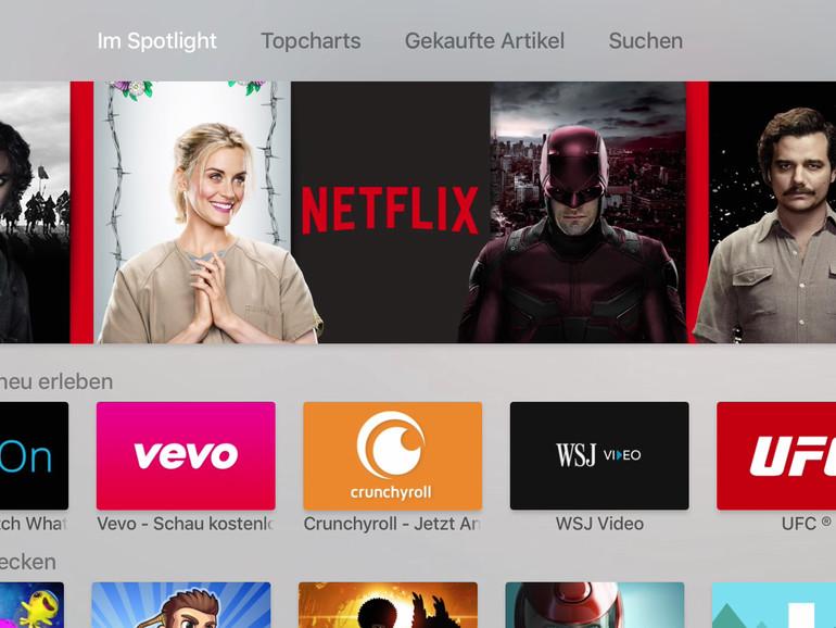 Der App Store ist eines der Highlights unter tvOS