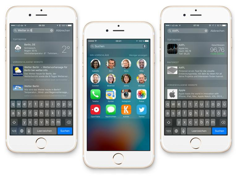 Apple hat die Suche in iOS 9 deutlich aufgebohrt