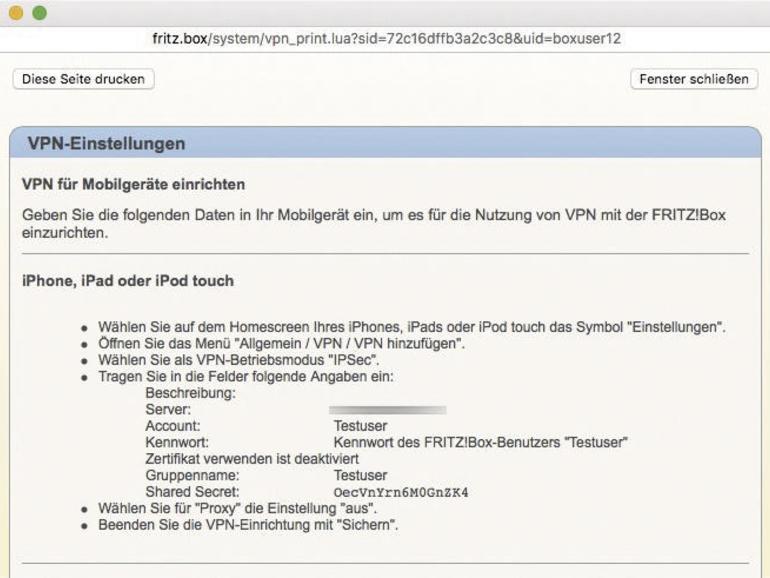 Fritz box vpn no internet