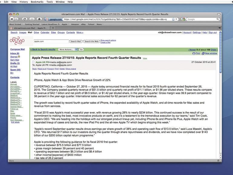 Die Anforderungen, um E-Mails im Browser zu verwalten, sind sehr gering.